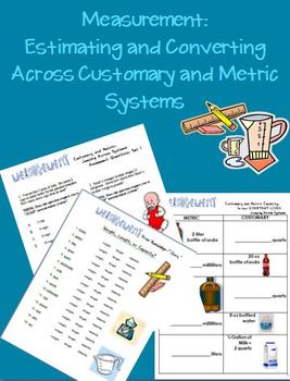 Measurement: Estimating Across Metric/Customary Systems 19 worksheets