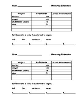 Measurement Estimation Activity