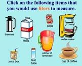 Measurement Estimation Liters, Milliliters Metric Smartboa