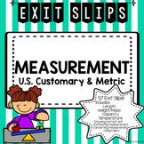 Measurement Exit Tickets