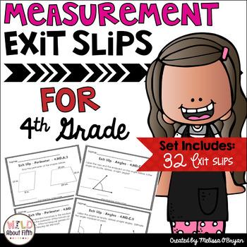 Measurement Exit Slips-Conversions, Line Plots, Area/Perim