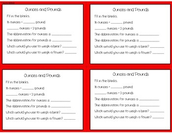 Measurement Exit Tickets