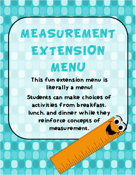Measurement Extension Menu