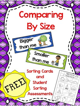 "Measurement - FREE Size Comparing ""Bigger than me, smaller than me"""