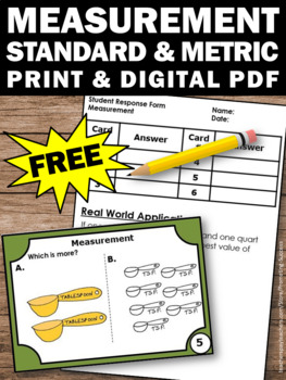 FREE Measurement Task Cards