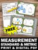FREE Measurement Task Cards U.S. Standard & Metric 4th 5th