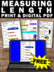FREE Measuring Length, Measurement Worksheets, 2nd Grade Math Review Activities