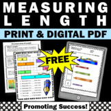 FREE Measuring Length, Standard Measurement Worksheets, 1st Grade Math Review