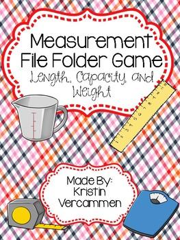 Measurement File Folder Game