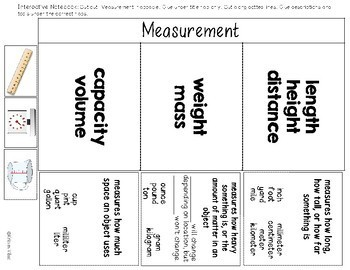 Measurement Flap Book and Interactive Notebook Activity