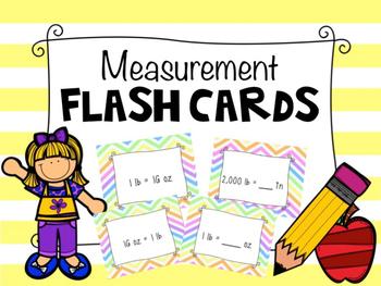 Measurement Flash Cards