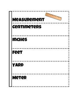 Measurement Flipbook for Notes