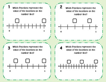 Measurement, Fractions, and Line Plot Task Cards