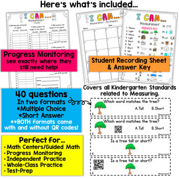 Kindergarten Measurement | Kindergarten Math Centers
