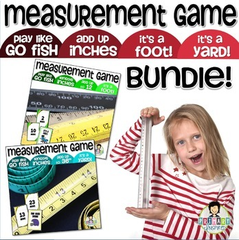 Measurement Game BUNDLE ~Add Inches Up to a Foot & Yard~