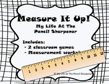Measurement Game and Worksheet Pack - 2 Common Core Aligned Games and Worksheets