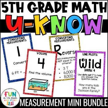 Measurement Games | U-Know Measurement Review Games MINI Bundle {5th Grade}