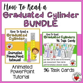 Reading Graduated Cylinders BUNDLE – Tutorial and Task Cards