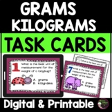 Measurement - Grams or Kilograms Task Cards