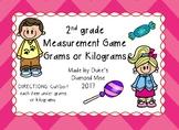 Measurement Grams or Kilograms Game Sort