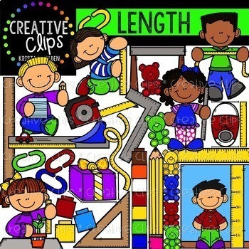 Measurement Growing Bundle: Math Clipart {Creative Clips Clipart}