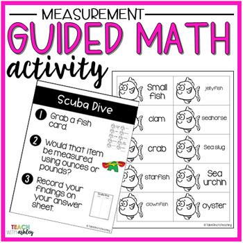 Measurement Guided Math Activity Scuba Dive