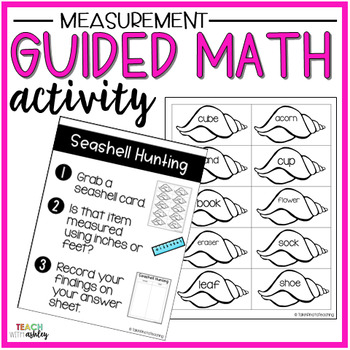 Measurement Guided Math Activity Seashell Hunting