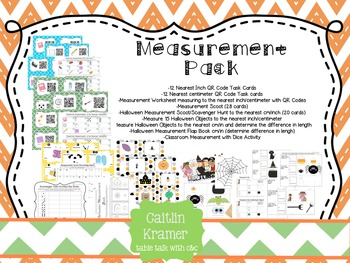 Measurement + Halloween Inspired Activities (2nd Grade CC Aligned)