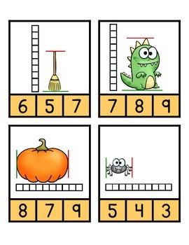 Measurement Clip Game - Halloween Theme