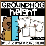 Measurement Height Task Cards Groundhog Theme