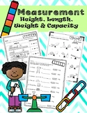Measurement: Height, Weight, Length, and Capacity