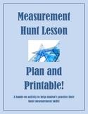 Measurement Hunt Lesson Plan and Printable