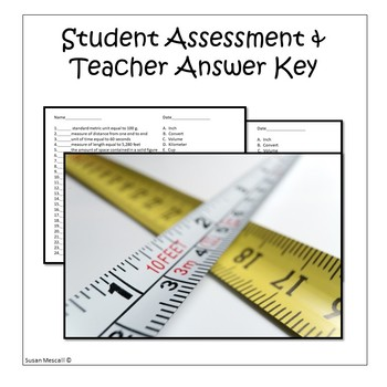 Measurement Vocabulary: I Have Who Has Game and Assessment