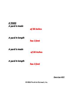 Measurement - Inch, Foot, Yard