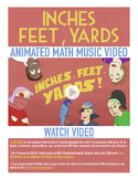 Inches Feet Yards | FREE Math Poster, Worksheet, & Fun Video | 4th-5th Grade
