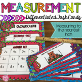 Measurement Task Cards Inches