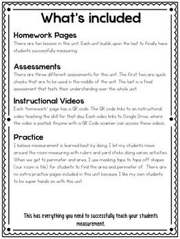Measurement: Instructional Videos, Assessments, Homework