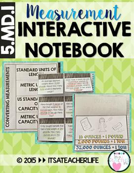 Measurement Interactive Notebook (Converting Units)