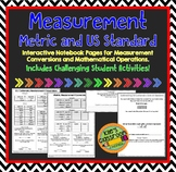 Metric and Standard Measurement Interactive Notebook / Guided Notes Activities