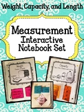 Measurement Interactive Notebook Pieces. Length.  Weight. Distance. Capacity