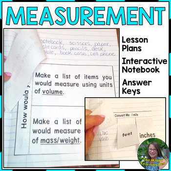 Measurement Interactive Notebook and Lesson Plans