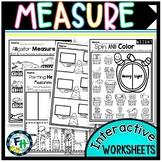 Measurement Interactive Worksheets {Kindergarten & First Grade}