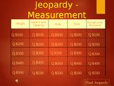 Measurement Jeopardy Kindergarten - 2nd Grade