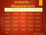 Measurement Jeopardy - 3rd and 4th Grade