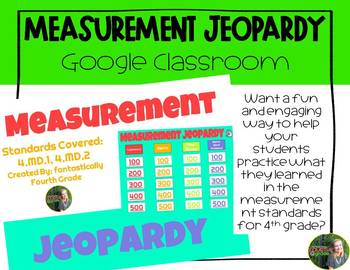 Measurement Jeopardy (Customary and Metric)