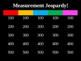 Measurement Jeopardy PPT