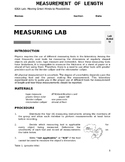 Measurement Lab