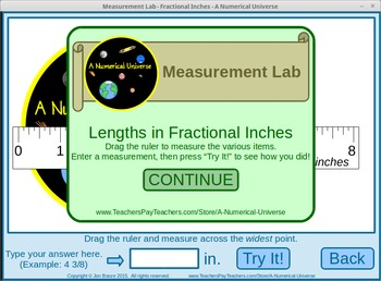 Length Measurement Practice Game : Inches