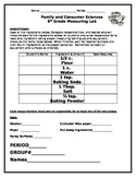 Measurement Lab Planning Sheet (For Use in Class with Flipped Lesson)