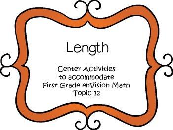 Measurement: Length - First Grade enVision Math - math centers